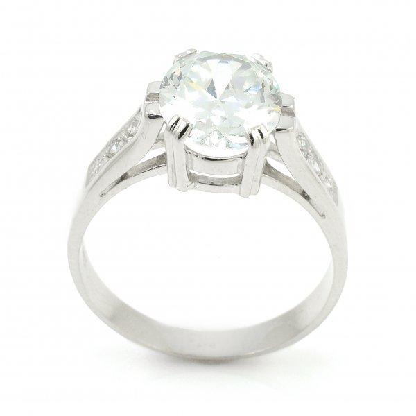 Zásnubný prsteň z bieleho zlata - Alexandra