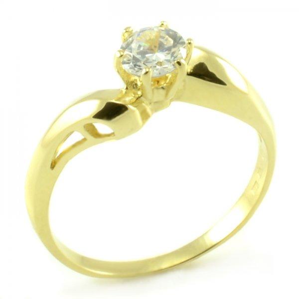 Zásnubný prsteň zo žltého zlata s nepravidelnou šínou Adela