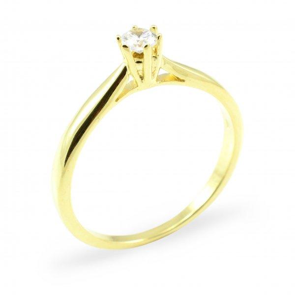 Zásnubný prsteň zo žltého zlata Nela