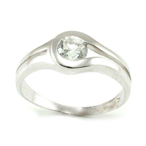 Zásnubný prsteň z bieleho zlata Sofia