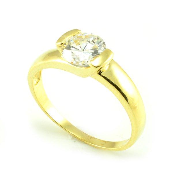 Zásnubný prsteň zo žltého zlata Zoja