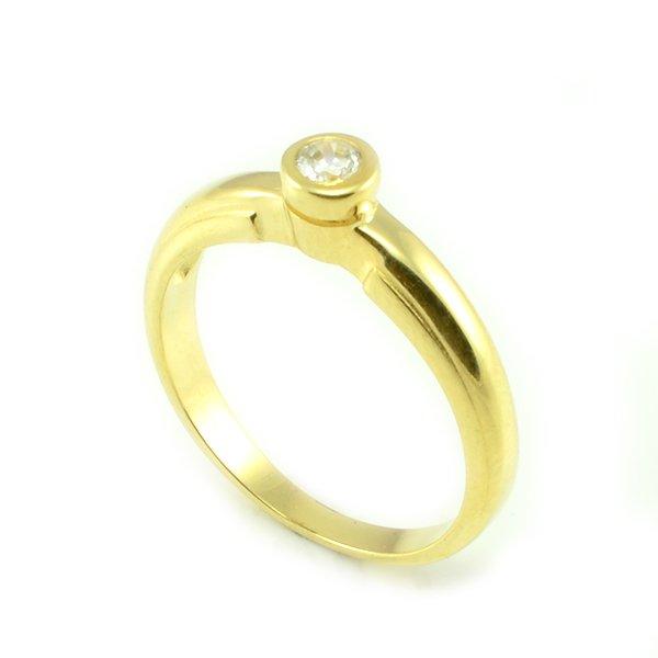 Zásnubný prsteň zo žltého zlata Liliana