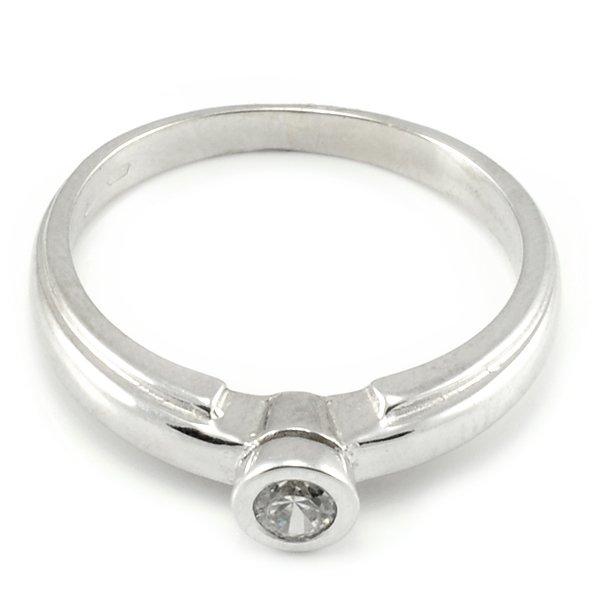 Zásnubný prsteň z bieleho zlata Liliana