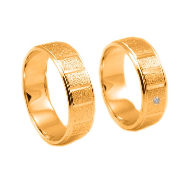 Svadobné obrúčky z červeného zlata s drážkami