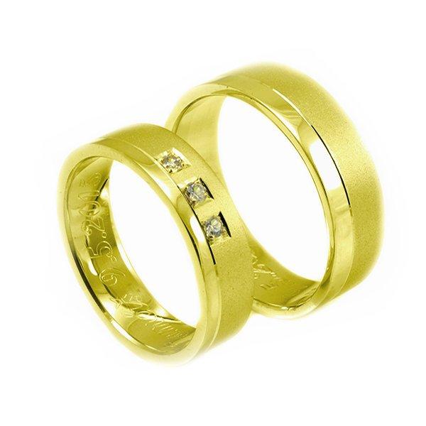 Svadobné obrúčky zo žltého zlata široké 6 mm