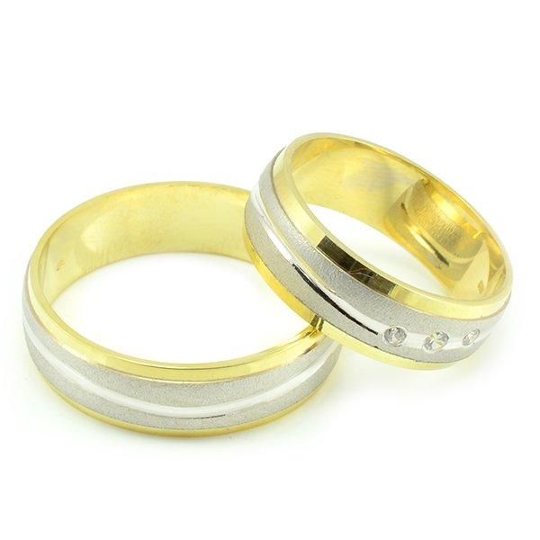 Svadobné obrúčky zo žltého zlata s vlnkou