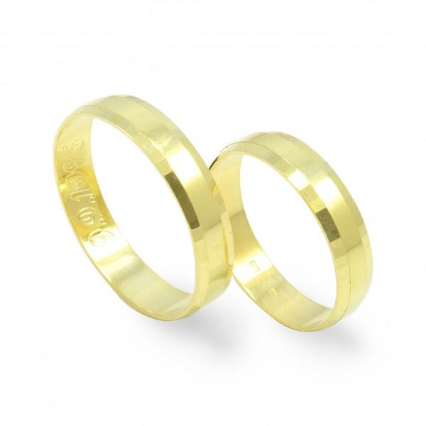 Svadobné obrúčky zo žltého zlata - ploché